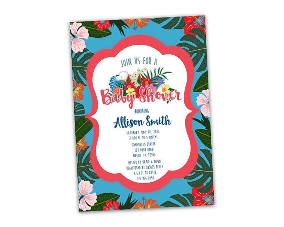 The 164 best unique baby shower invitation themes by party print get the island tropical baby shower invitations youve been looking for for your filmwisefo