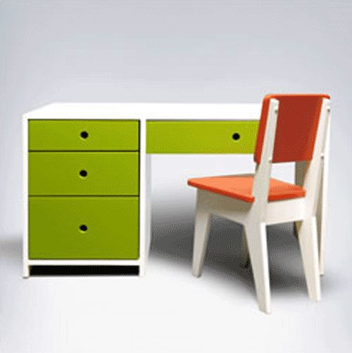 Red And Green Children Desk By Ducduc Kids Desk