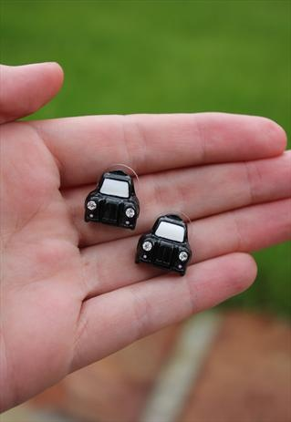 London black taxi earrings