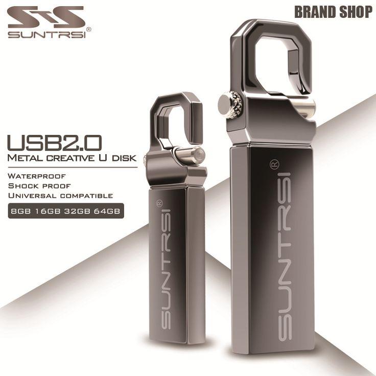 Suntrsi GB logam flashdisk usb flash drive 64 kecepatan tinggi usb flash 32 GB 16 GB Kapasitas Real Pen Drive Flash Drive Hadiah USB Stick