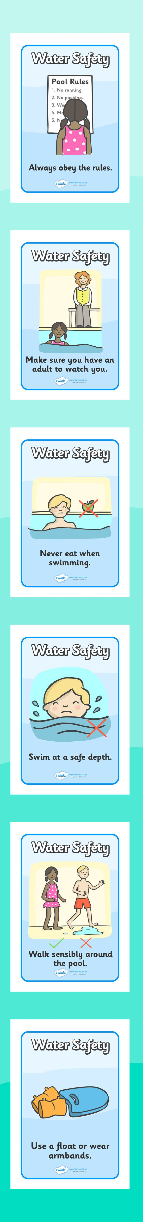 The seaside- Water safety display posters