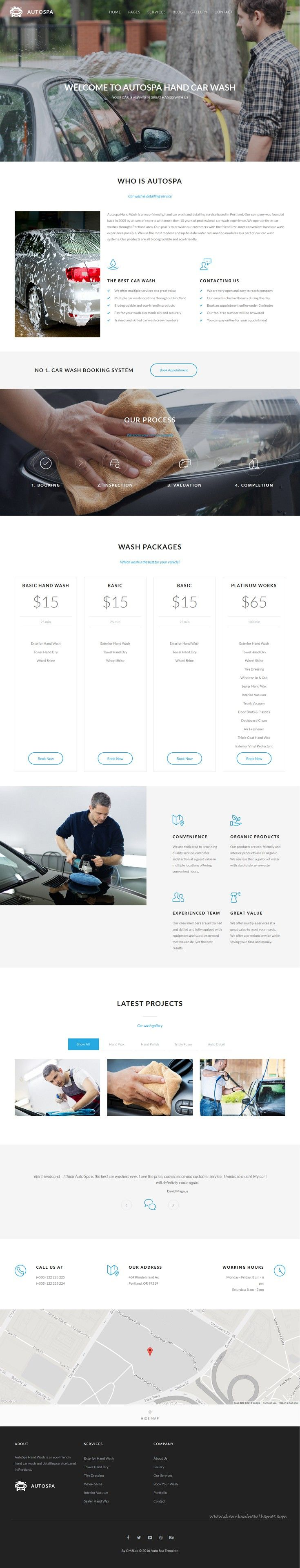 Auto spa car wash auto detail joomla template