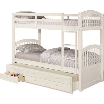 Wildon Home ® Twin Bunk Bed with Trundle and Storage & Reviews | Wayfair