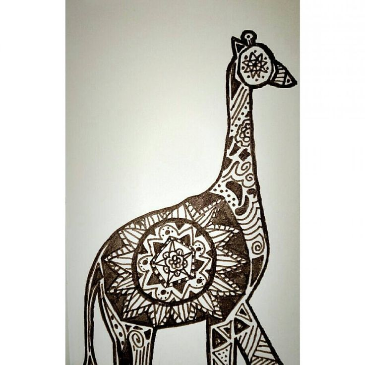 Hoje deu-me para isto  lalala #draw #drawing #justmoreone #giraffe #girafa #mandala #lovedrawing
