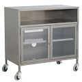Industrial TV Cart, Raw Steel