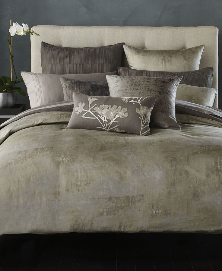 donna karan home atmosphere pewter collection bedding collections bed u0026 bath macyu0027s