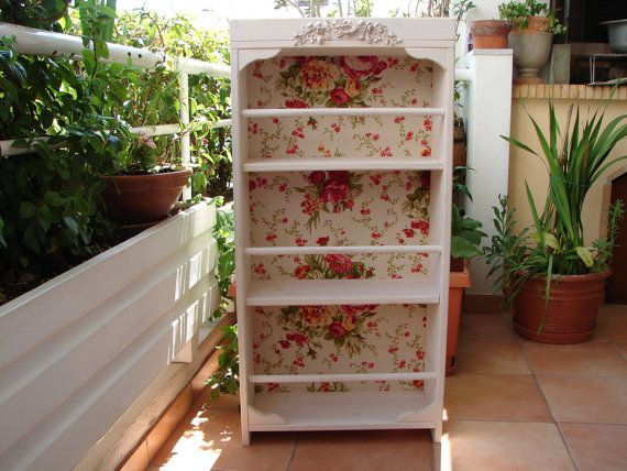 French shabby chic bookcase