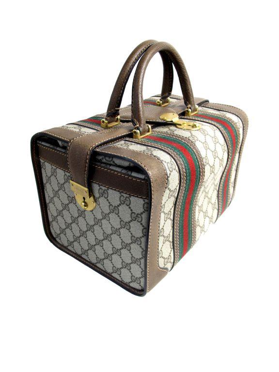 Gucci Logo Train Case Bw Consignment Pinterest Handbags And Purses