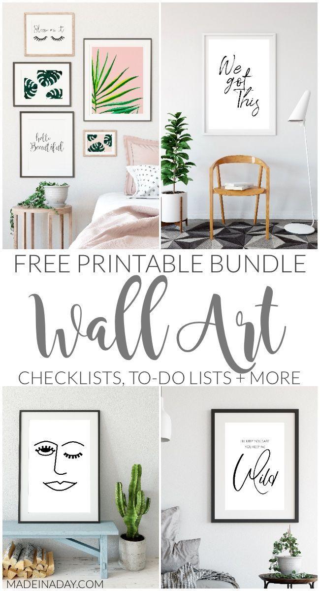 Get Free Trendy Wall Art Minimal Style List Printables Wall