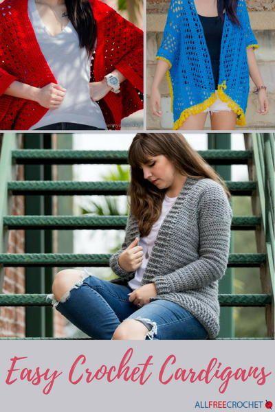25e90816c887 56 Easy Crochet Cardigan Patterns
