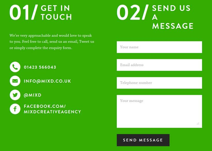 Best Web  Contact Page Images On   Contact Form