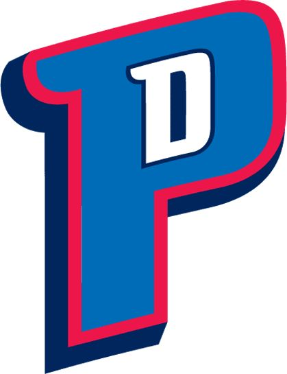 Detroit Pistons Logo - A blue P outlined in red with a white D in the middle (SportsLogos.Net)