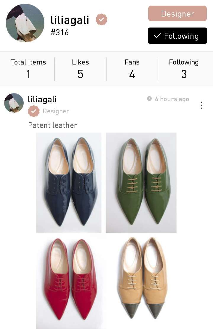 Lilia Gali, a Russian shoe designer based in Florence, Italy.