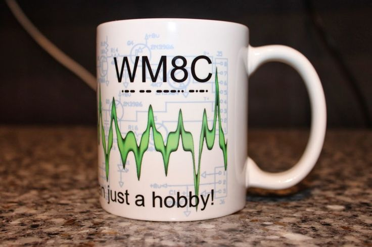 ham radio call sign mug