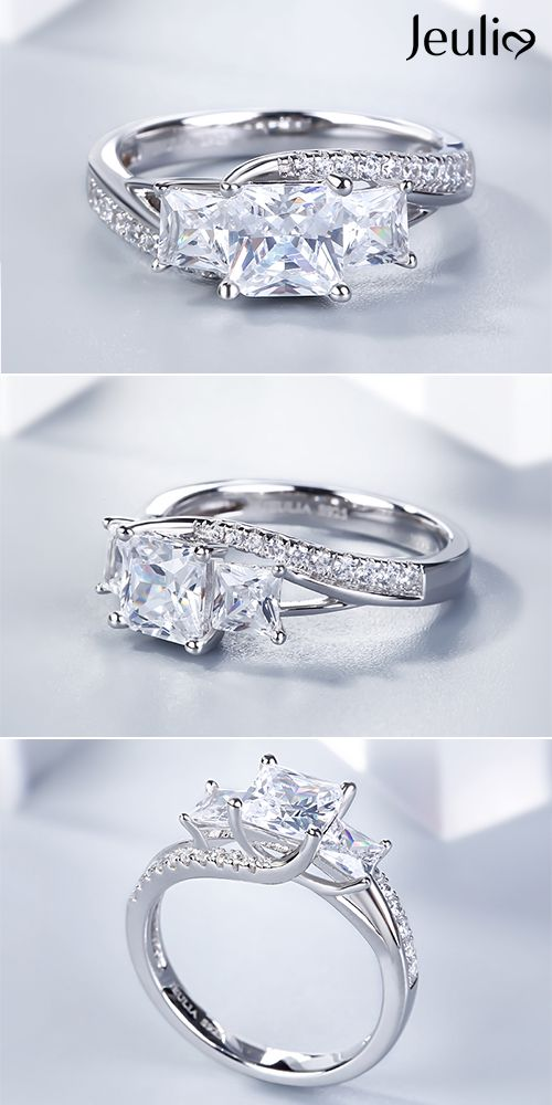 Princess Diamond Engagement Ring Diamond Sterling Silver Ring Handmade !! Diamond Fine Jewelry