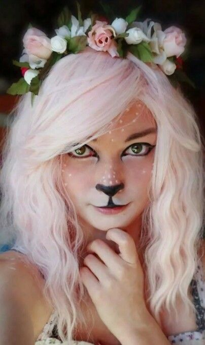 Costumes Face Paint Kitty or Bunny Face