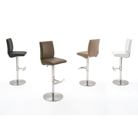 Kitts Bar Stool In Faux Leather With Chrome Base  sc 1 st  Pinterest & 112 best Bar stools And Kitchen Bar Stools images on Pinterest ... islam-shia.org