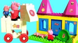 Nickelodeon baby toys Peppa Pig Amusement Park construction blocks also called Parco dei Divertimenti. Parque de Atracciones. Parque de Diversões. Parc d'attractions. Парк развлечений. Park rozrywki. 놀이 공원. Freizeitpark. Pretpark. λούνα παρκ.