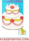 Congratulations Cake Applique Garden Flag
