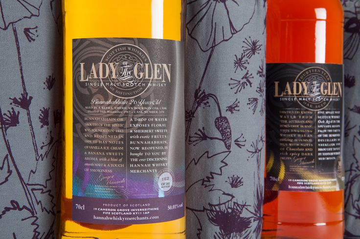 Lady of the Glen bottles with their Bespoke Atailer puches