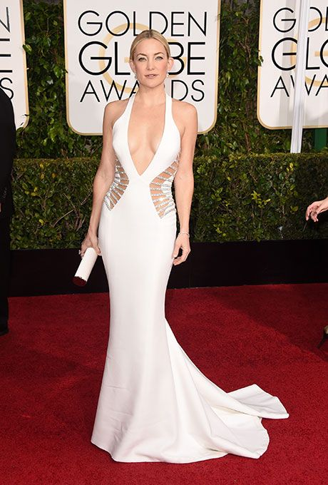 Kate Hudson's daring, low-cut Versace dress from the Golden Globes | Brides.com