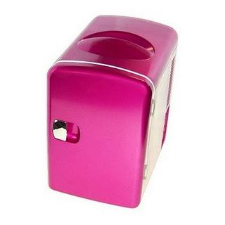 Pink mini refrigerator