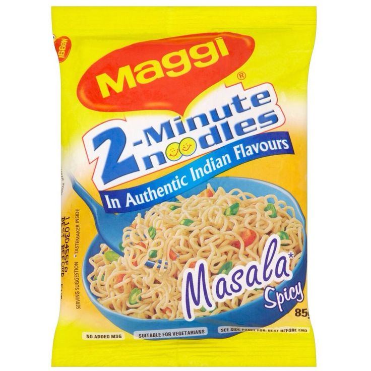 Maggi noodles are a very popular snack in South and Eastern Asia. It's a young persons  favorite snack in that region, whenever he/she is hungry they make Maggi because it's easy to make and it only takes two minutes.