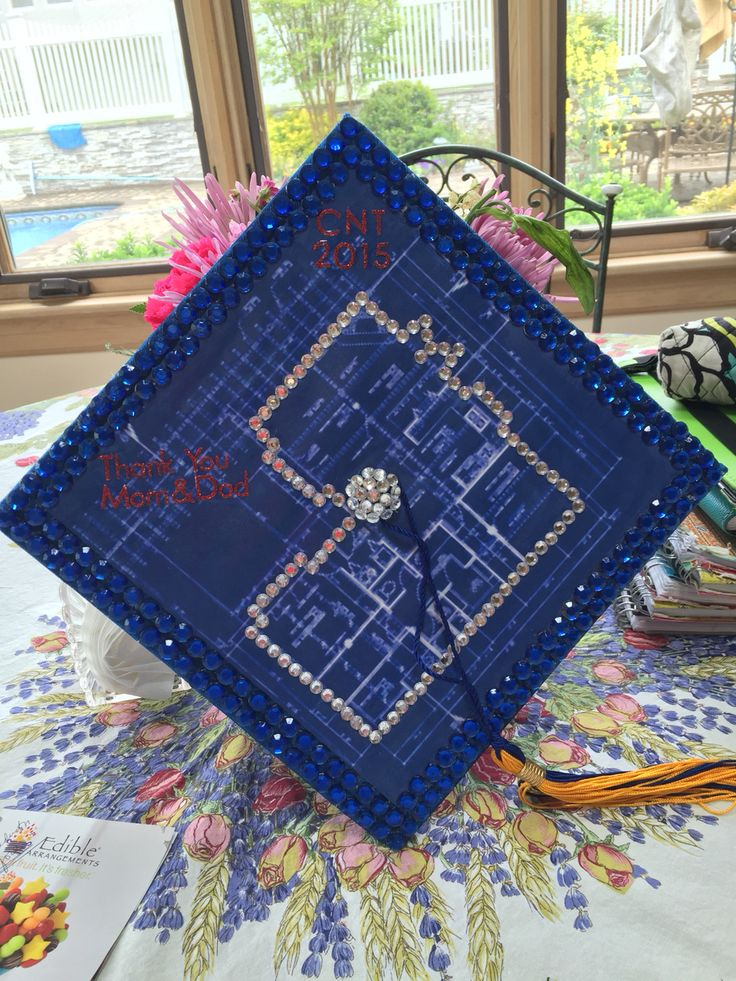 Architecture graduation cap idea crafts graduation - Graduation gift for interior design student ...