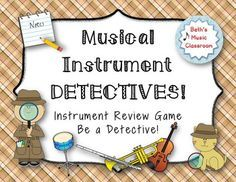 Be a Detective! Your students will just love this fun, exciting review game. It is perfect to use right before a test on musical instruments of the orchestra! It works great with small groups, centers, or as a whole-class review game.
