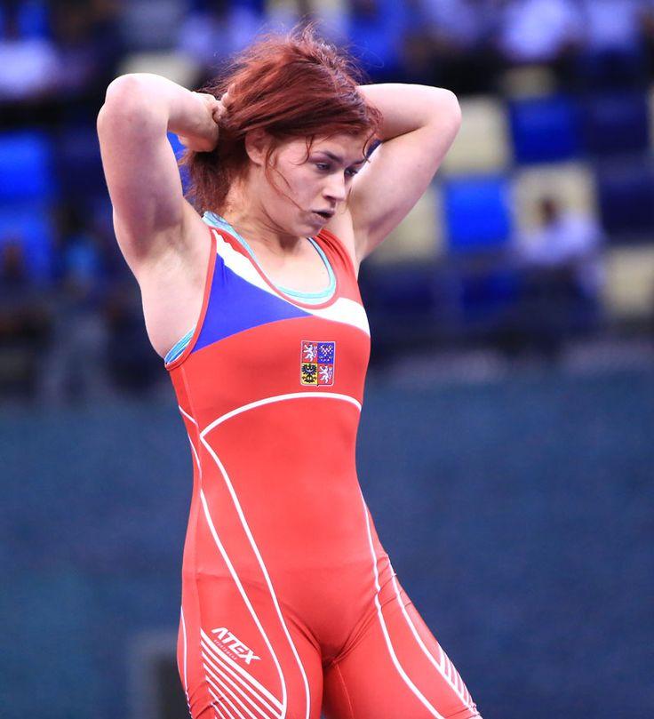 Česká reprezentantka v zápase ve volném stylu Adéla Hanzlíčková (na snímku) si odváží stříbrnou medaili z Mistrovství Evropy 2016 do 23 let.
