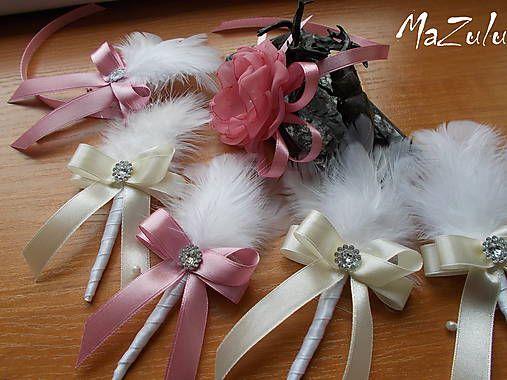 MaZulu / svadobné pierko pre rodičov s perím