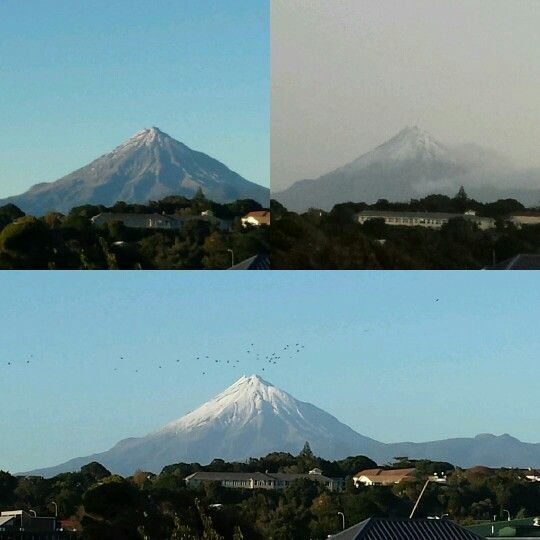 Mt Taranaki always changing
