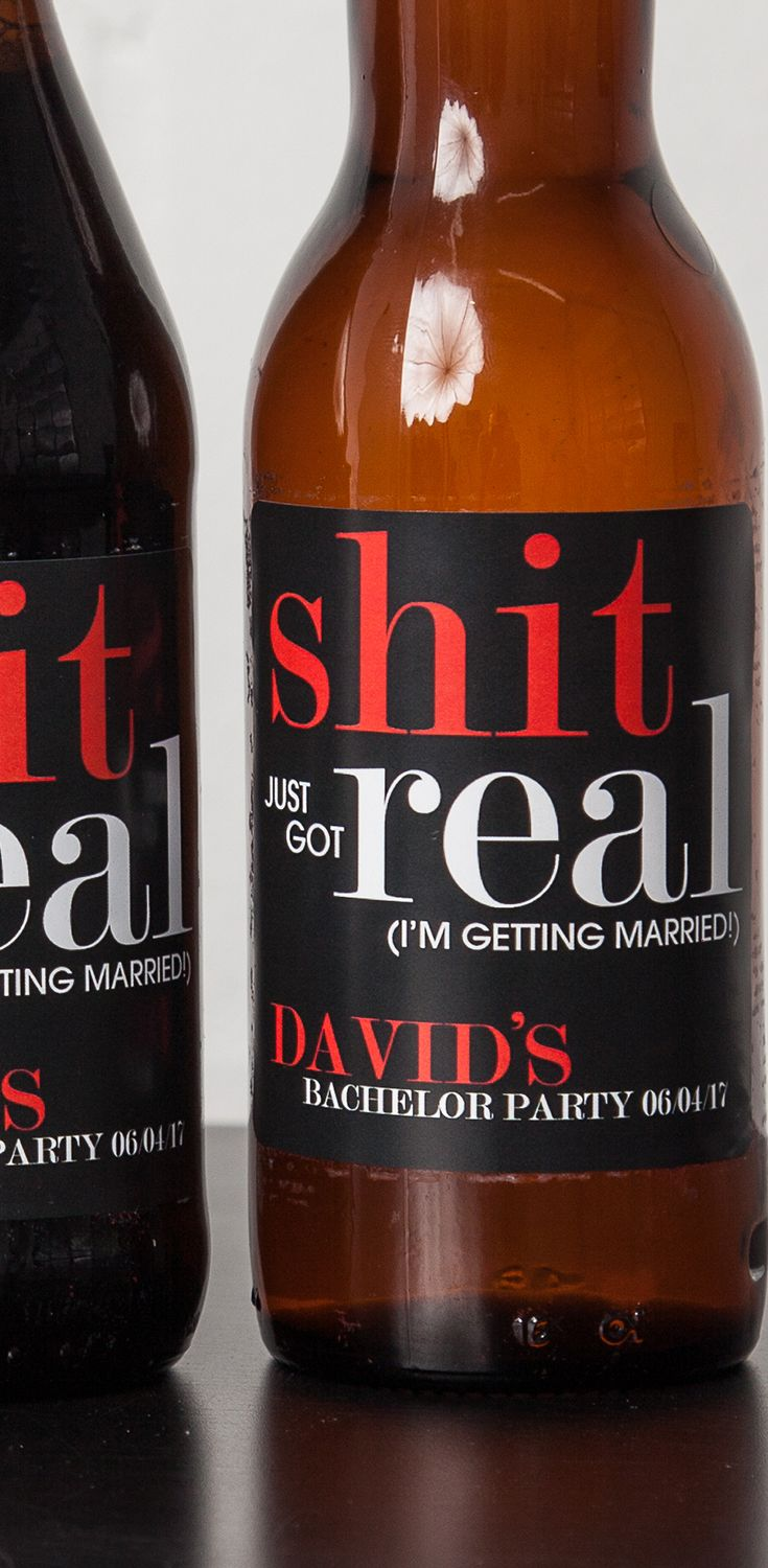 You are engaged about to tie the knot but first the bachelor party! - shit just got real - bachelor party favors - bachelor party ideas