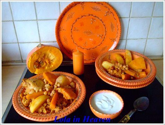 Jesienny couscous z kurczakiem i dynią