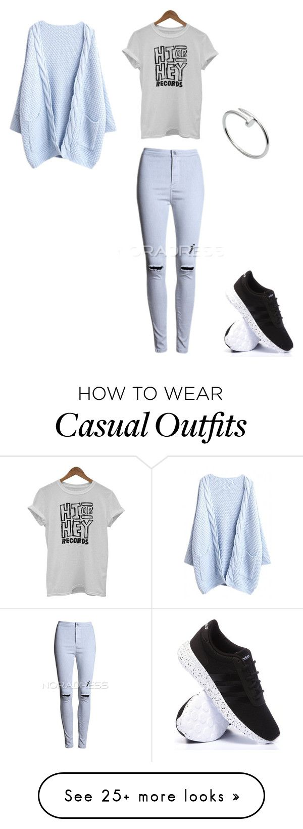 """#hiorheyrecords"" by littlewonder2504 on Polyvore featuring adidas and Cartier"