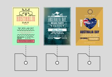 Australia Day Templates - Save Design Elements with Easil
