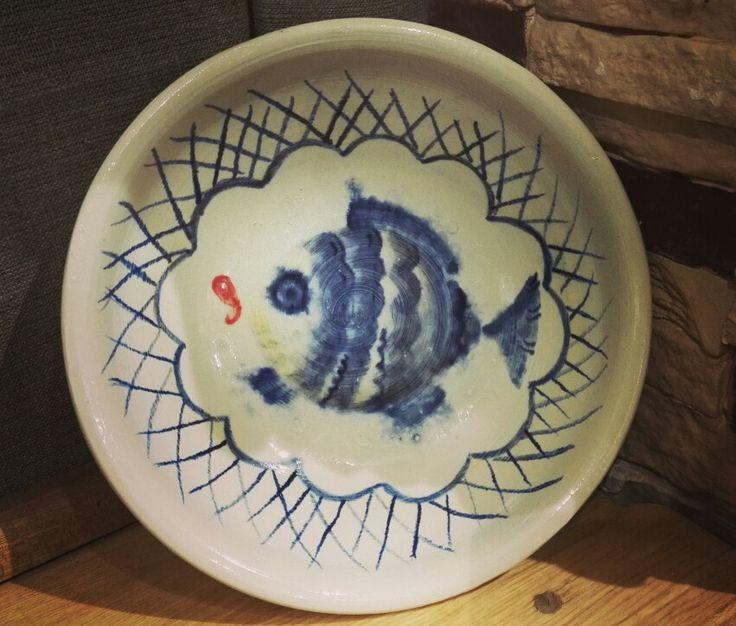 Керамическая тарелка роспись