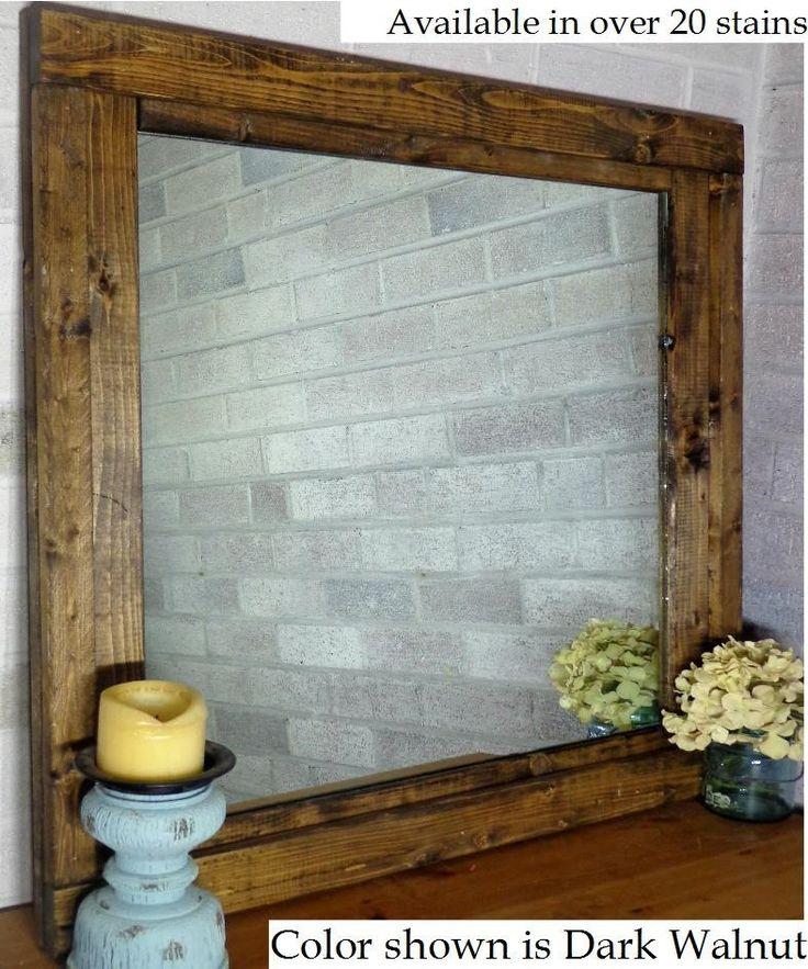 Farmhouse Mirror / Vanity Mirror (Stained)