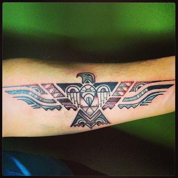 Native American phoenix tattoo. To go with my original Phoenix feather.