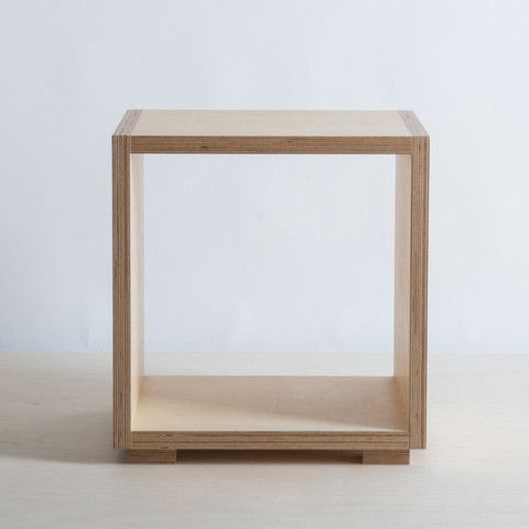 Birch Plywood Bedside Table New Zealand Made The Plywood
