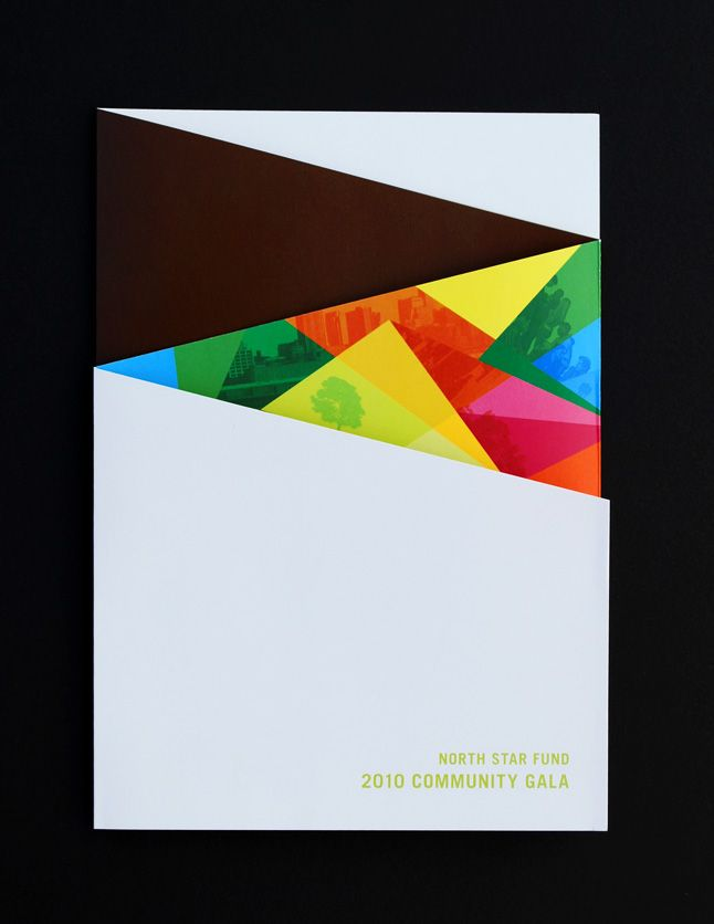 cool brochure cover, fun colors, interesting use of photos #design #colorful #brochure
