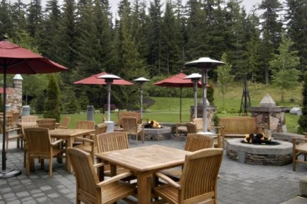 Patio and Landscape theme from Fairmont Chateau Whistler Mallard Club