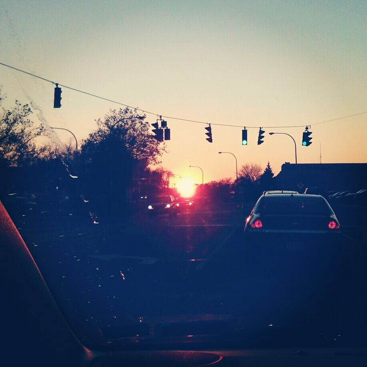 Sunsets on the way home