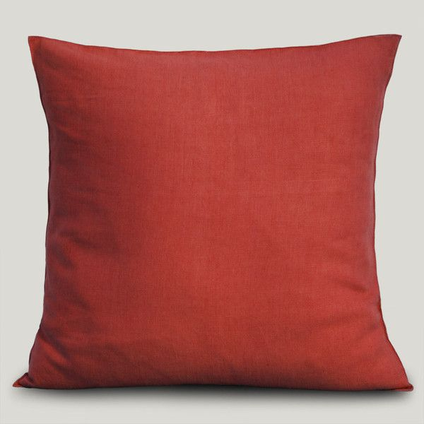 Almofada Linho Napoli Vermelha 45x45