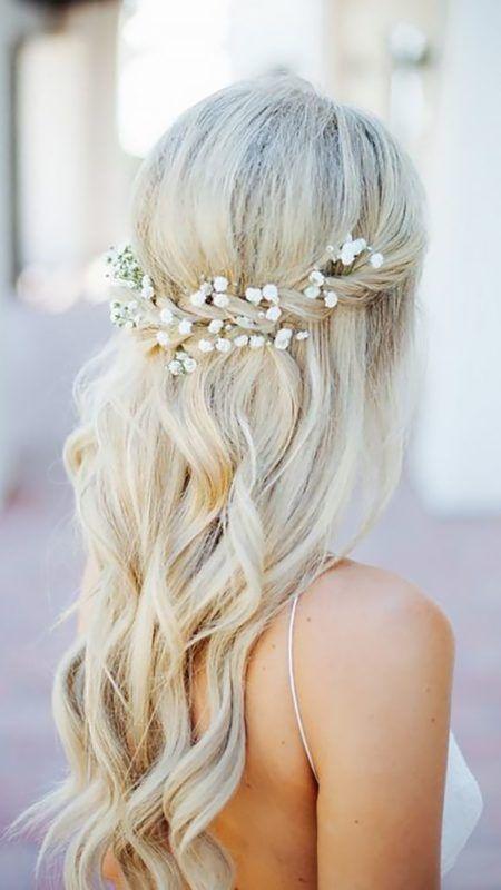 Half Bride Hairstyle Ideas – #boheme #bride #phobia #halb #Ideas