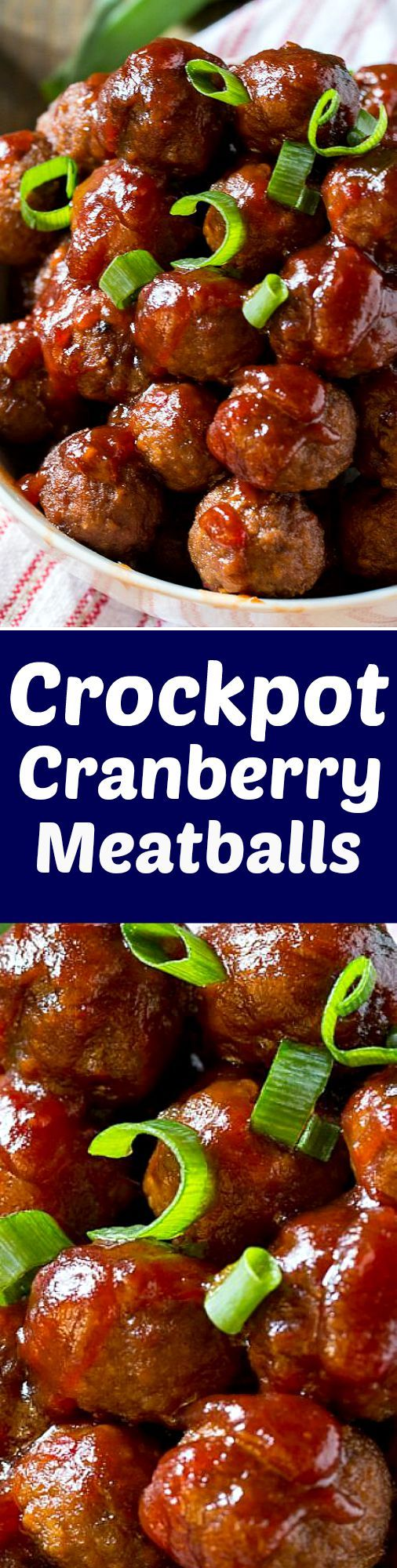 Crock Pot Cranberry Meatballs - super easy and only a few ingredients needed!