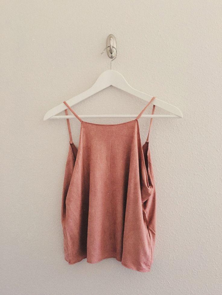 Alavia Suede Cami (Dusty Pink)