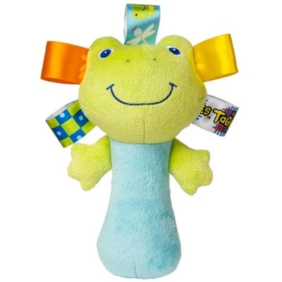 Taggies See Me Zoo Frog Rattle. http://www.sayitbaby.co.uk/Taggies-See-Me-Zoo-Frog-Rattle-p/53185-frog.htm