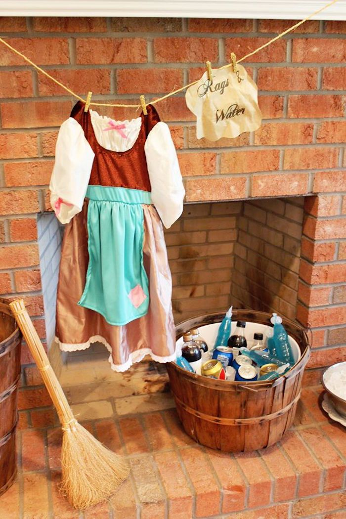 Cinderella's Attic Drink Station from a Princess Cinderella Birthday Party via Kara's Party Ideas | KarasPartyIdeas.com (31)