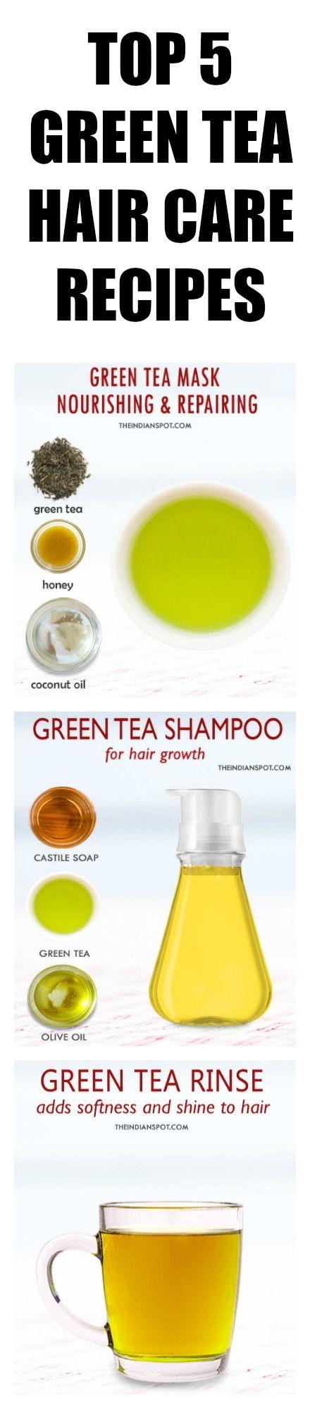 Hair Remedies Using Green Tea
